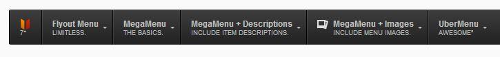 descrição do menu