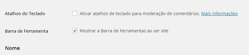 Remover Barra do WordPress