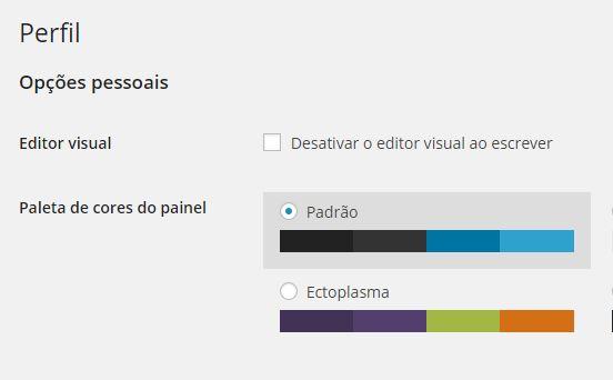 Perfil Usuário WordPress