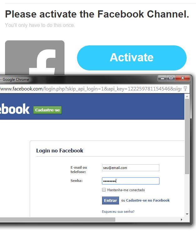 IFTTT - Ativando o Facebook