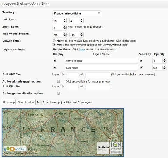 geoportail-shortcode
