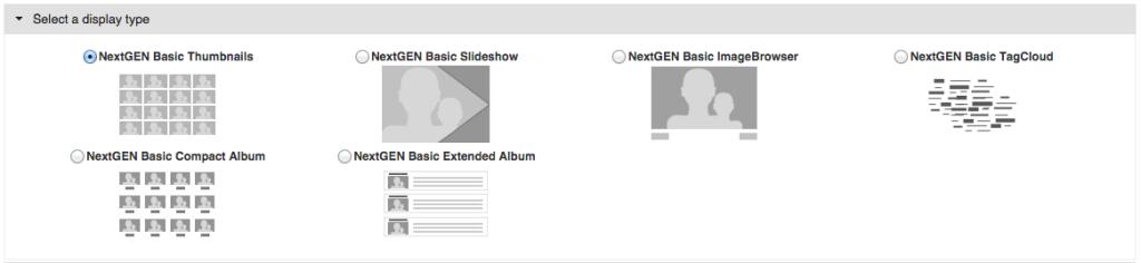NextGEN Gallery - Configuração 1