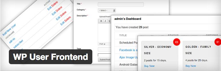 Post no Frontend WordPress - WP User Frontend