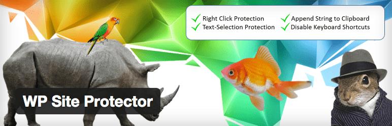 Proteção de Conteúdo - WP Site Protector