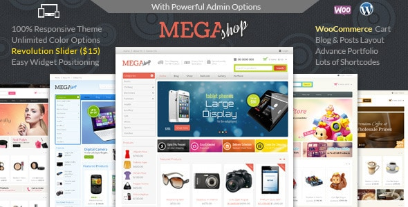 WordPress WooCommerce - Mega Shop