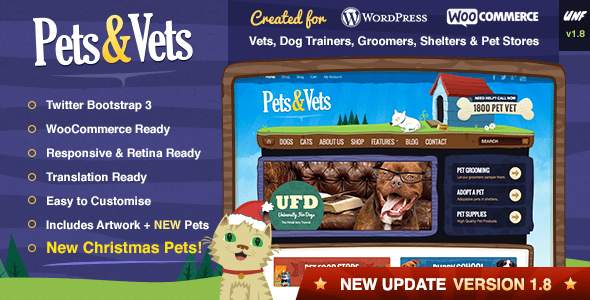 WordPress WooCommerce - Pets&Vets