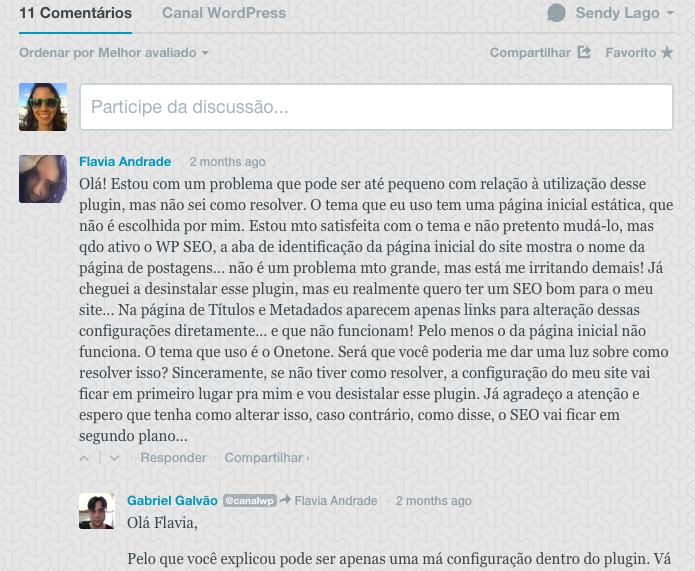 Comentários WordPress - Comentários com Disqus