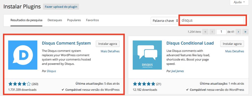 Comentários WordPress - Instalação Disqus