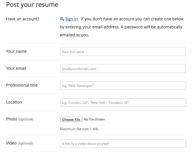 Confira um WordPress Job Board Plugin Free - Cadastro de Currículo Profissional