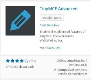 Melhore o WordPress Editor WYSIWYG - Instalação do TinyMCE Advanced