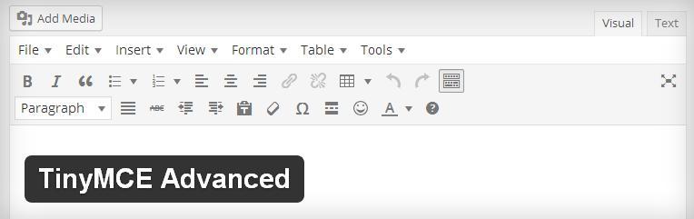 Melhore o WordPress Editor WYSIWYG com o TinyMCE Advanced