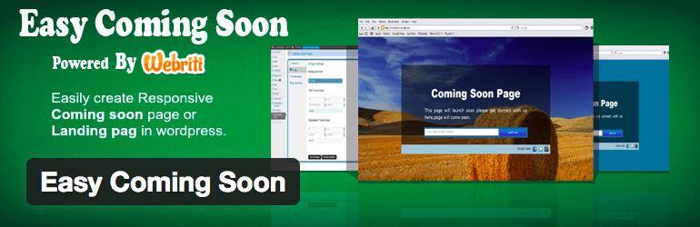 Plugins WordPress Under Construction - Easy Coming Soon