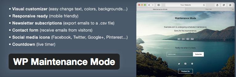 Plugins WordPress Under Construction - WP Maintenance Mode