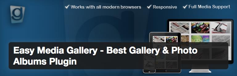 Plugins wordpress para site de noticias - Easy Media Gallery