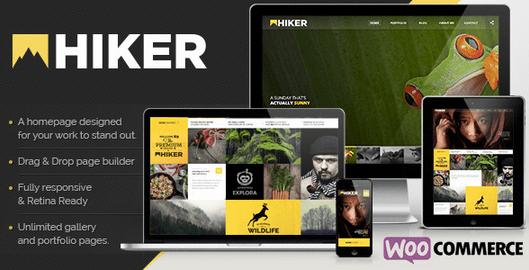 Temas WordPress para Fotografos - Hiker