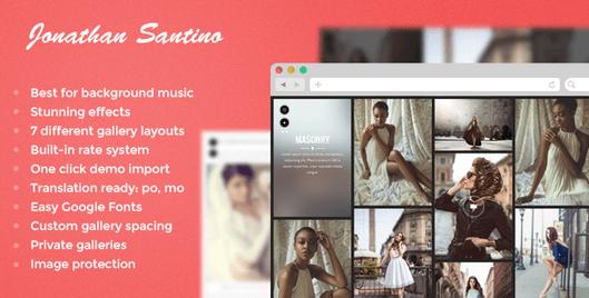 Temas WordPress para Fotografos - Santino