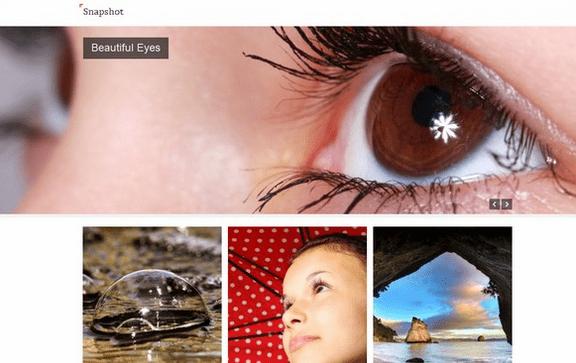 Temas WordPress para Fotografos - Snapshot