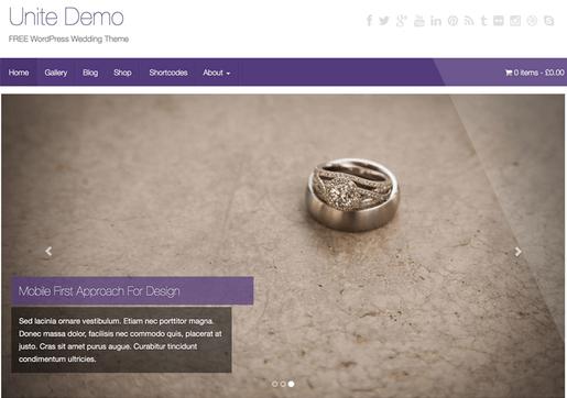 Temas WordPress para Fotografos - Unite
