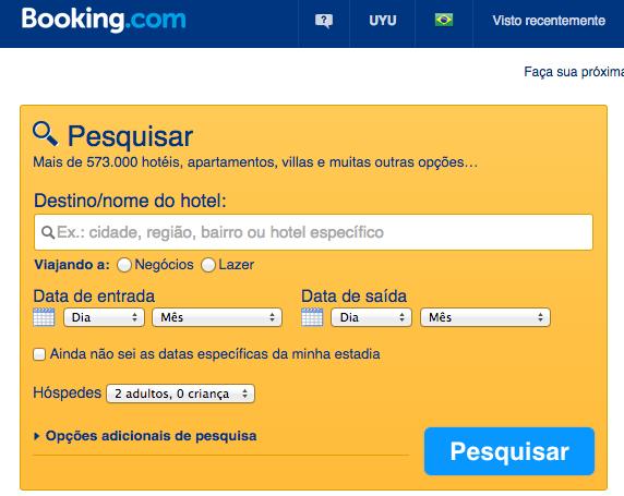 WordPress Booking Caixa de Pesquisa - Booking.com