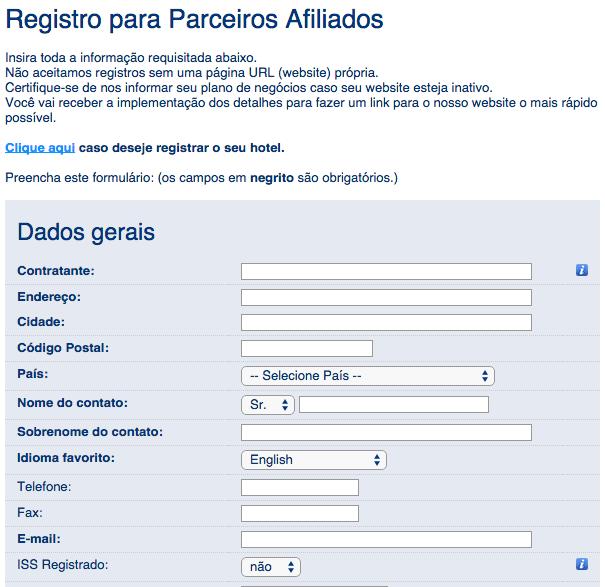 WordPress Booking Caixa de Pesquisa - Cadastro Afiliado Booking.com
