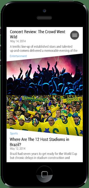 WordPress Mobile Pack - Exemplo de uso