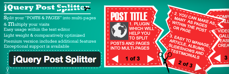 Plugins WordPress Pagination - jQuery Post Splitter