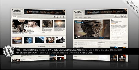 Temas WordPress para Videos - Wave