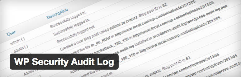 WordPress Admin - Plugin WP Security Audit Log