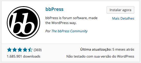 WordPress Forum - Instalação bbPress