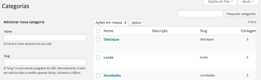 WordPress Revolution Slider - Criação de categoria Destaque