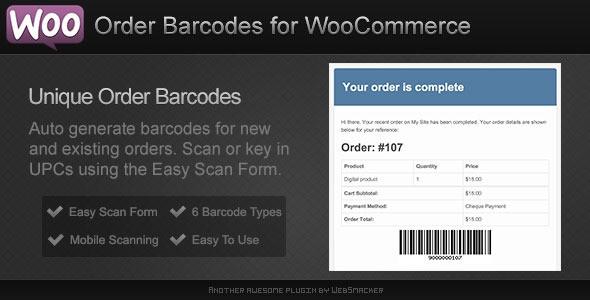WooCommerce Plugins - Order Barcodes