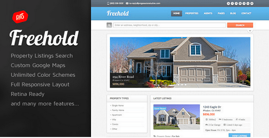Temas WordPress para Imobiliarias - Freehold