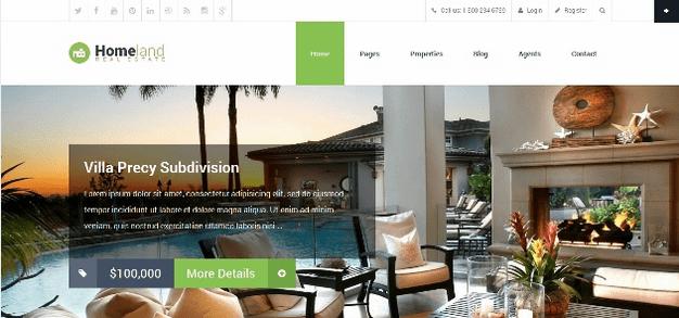 Temas WordPress para Imobiliarias - Homeland