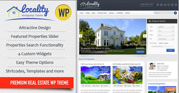 Temas WordPress para Imobiliarias - Locality