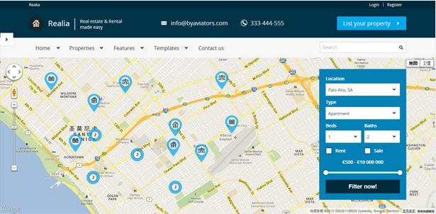 Temas WordPress para Imobiliarias - Realia