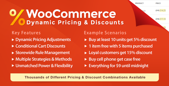 WooCommerce Plugins - WooCommerce Dynamic Pricing & Discounts