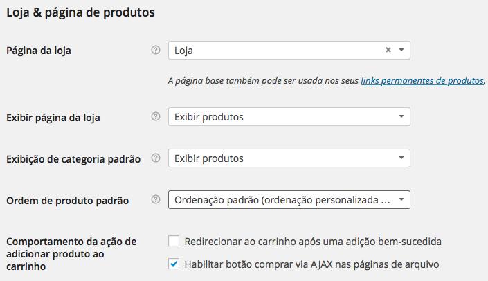 WooCommerce - Configuração Produtos Exibição