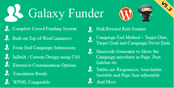 WooCommerce Plugins - Galaxy Funder
