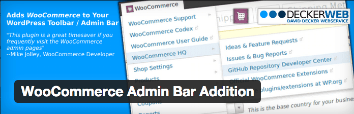 WooCommerce Plugins - WooCommerce Admin Bar Addition