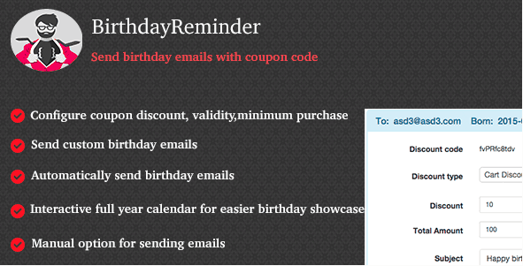 WooCommerce Plugins - WooCommerce BirthdayReminder