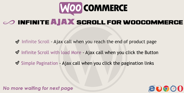WooCommerce Plugins - Infinite Ajax Scroll