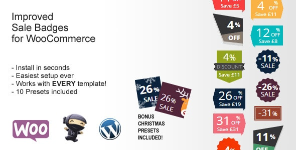 WooCommerce Plugins - Improved Sale Badges