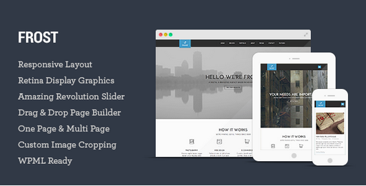 One Page WordPress - Frost