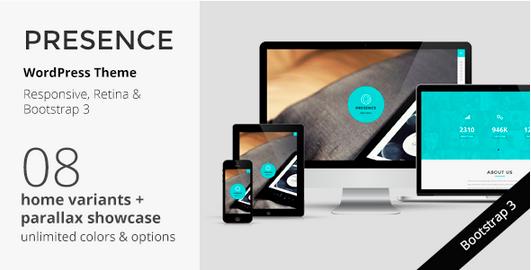One Page WordPress - Presence