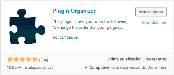 Plugin Organizer WordPress