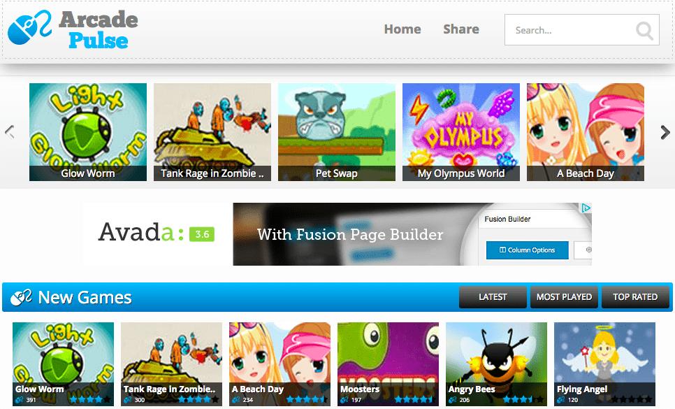 Temas WordPress Games - Arcade Pulse