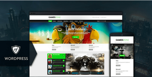 Temas WordPress Games - Games Zone
