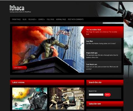 Temas WordPress Games - Ithaca
