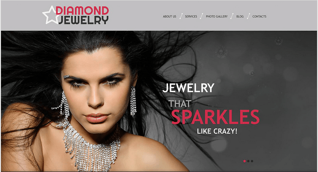Temas para WordPress Joalheria - Diamond Jewelry