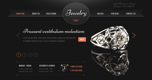 Temas para WordPress Joalheria - Jewelry Ornamentstar